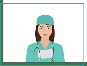 grafika kobiety lekarki wzielonym fartuchu